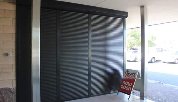 Shop roller shutters